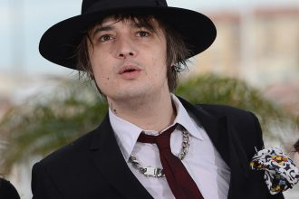 British actor Pete Doherty poses during
