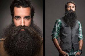 El hombre moderno lleva barba